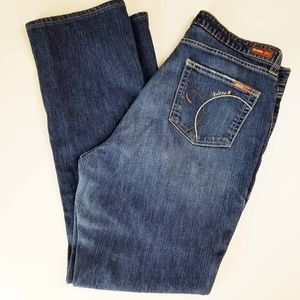 Denim 24/7 Womens Deluxe Med Wash Size 18T Jeans